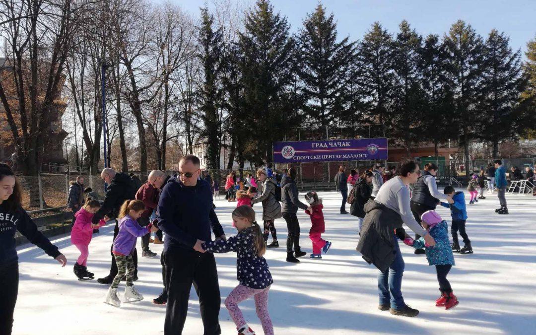 Почела бесплатна школа клизања у Чачку